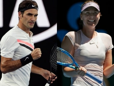 Roger Federer and Maria Sharapova are through to the second round of the Australian Open. AP