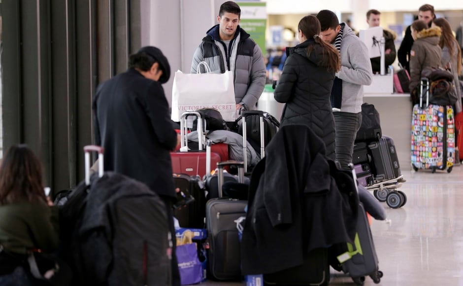 More than 3,000 flights were cancelled on Thursday, with airports in New York, Newark, New Jersey, Boston reporting the most cancellations, according to FlightAware. AP