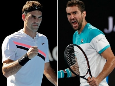 Roger Federer and Marin Cilic will meet in the Australian Open final. AP