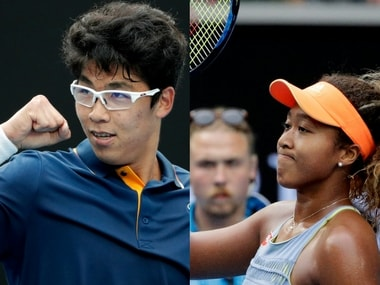 Chung Hyeon and Naomi Osaka have made it to the fourth round of the Australian Open for the first time. AP