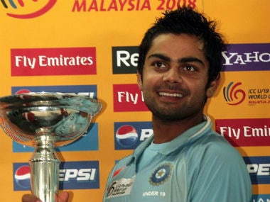 Virat Kohli led India to title triumph in the 2008 edition of the U-19 World Cup. AFP