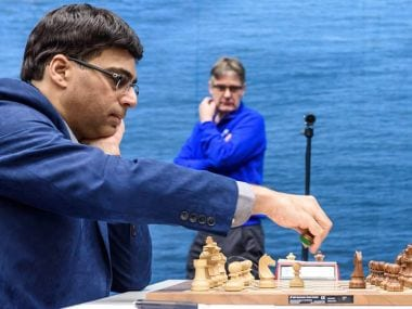 Tata Steel Masters Chess: Viswanathan Anand crushes Fabiano Caruana's opening novelty to join Anish Giri in the lead