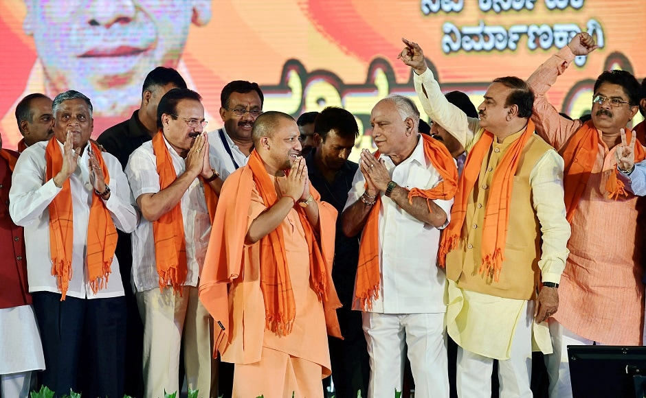 Adityanath urged the people to vote for the BJP in the ensuing Karnataka Assembly elections to step up development in the state. He also attacked the Congress and said Karnataka stagnated in development over the last four years under the party. PTI