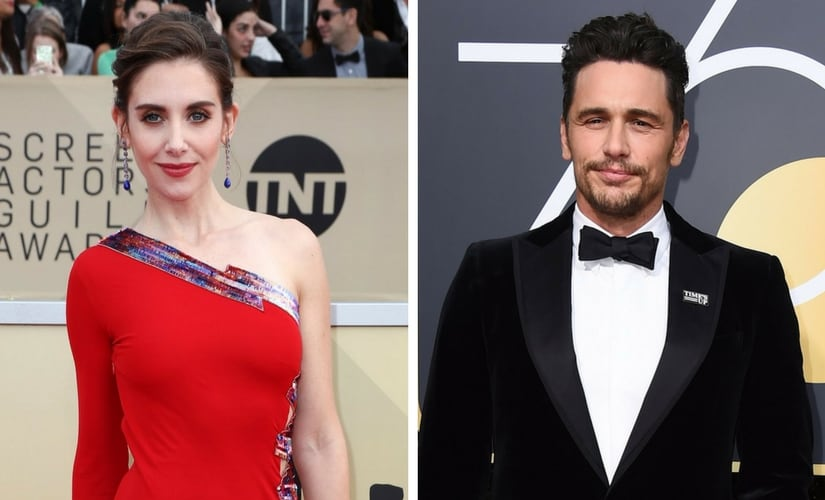 Alison Brie and James Franco/Image from Twitter.