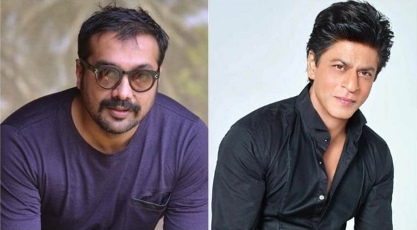 Anurag Kashyap; Shah Rukh Khan. Image from Twitter/@Watch_Bollywood