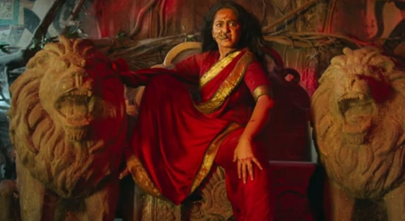 Anushka Shetty in a still from Bhaagamathie. YouTube
