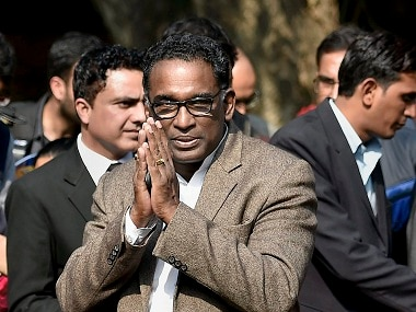 Supreme Court judge Jasti Chelameswar during a press conference at his residence in New Delhi. PTI