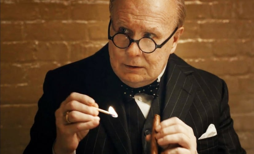 A still of Gary Oldman as Winston Churchill from Darkest Hour/Image from YouTube.