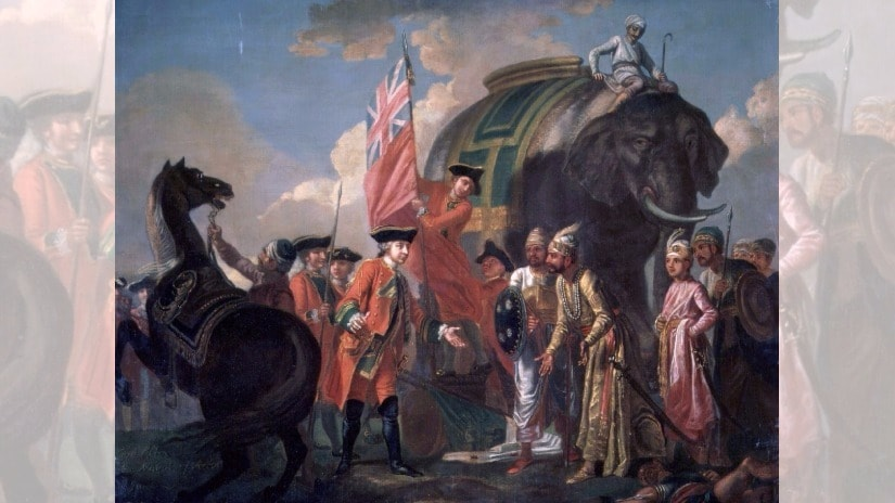 Robert Clive's victory at the Battle of Plassey