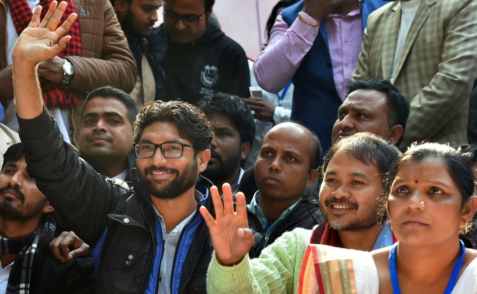 Jignesh Mevani, the face of new-found Dalit assertiveness in Gujarat, made his debut on the national political stage on Tuesday with therally where he called the Narendra Modi government a