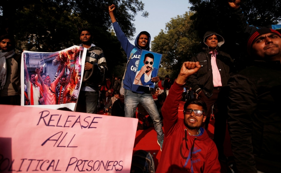 The rally — held on Parliament Street in the heart of the national capital where prohibitory orders are in force through the year — was primarily called to demand the release of Bhim Army founder Chandrashekhar Azad. Reuters
