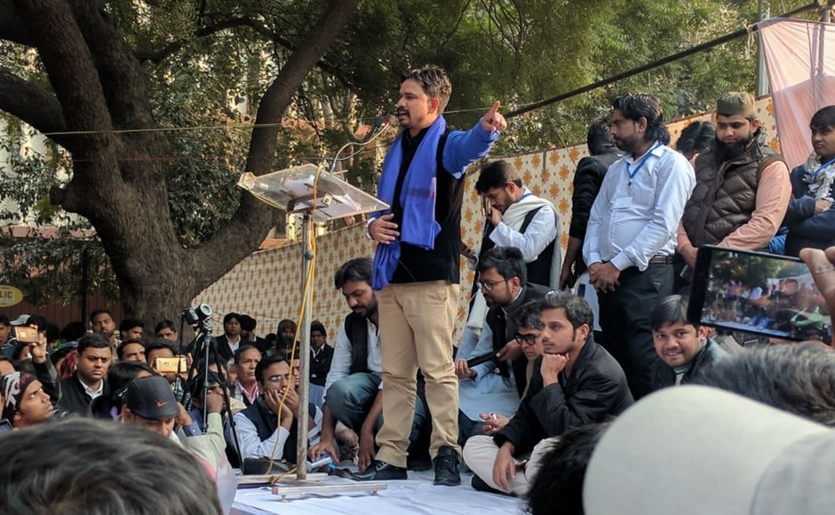 Hailing Mevani at the rally, Bhim Sena chief Ratan Lal said that Dalit outfit wanted to give the Gujarat MLA responsibility to take up the issues of Dalits. Firstpost/Debobrat Ghose