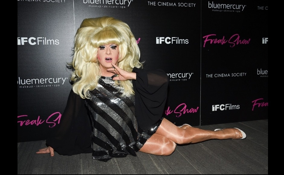 Lady Bunny also marked her presence.  Freak Show is a young adult LGBT film, based on the novel of same name by James St James. Image from AP/Evan Agostini