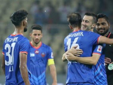 FC Goa controlled proceedings in both halves against Jamshedpur FC. Twitter/@IndSuperLeague
