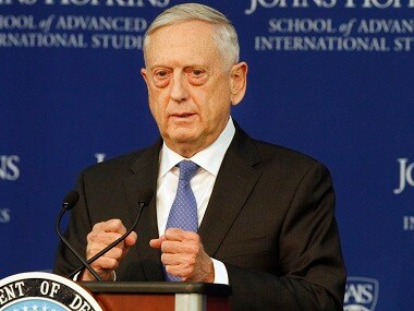 Defense Secretary James Mattis speaks about the National Defense Review. AP