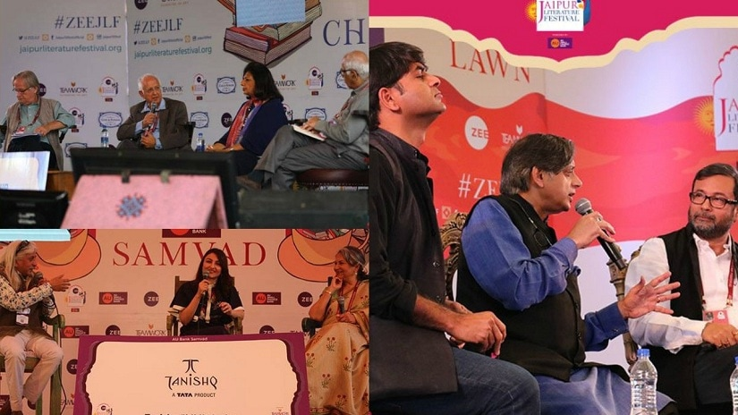 Glimpses from day 4 at the 2018 Jaipur Literature Festival. Images from Twitter/@ZEEJLF