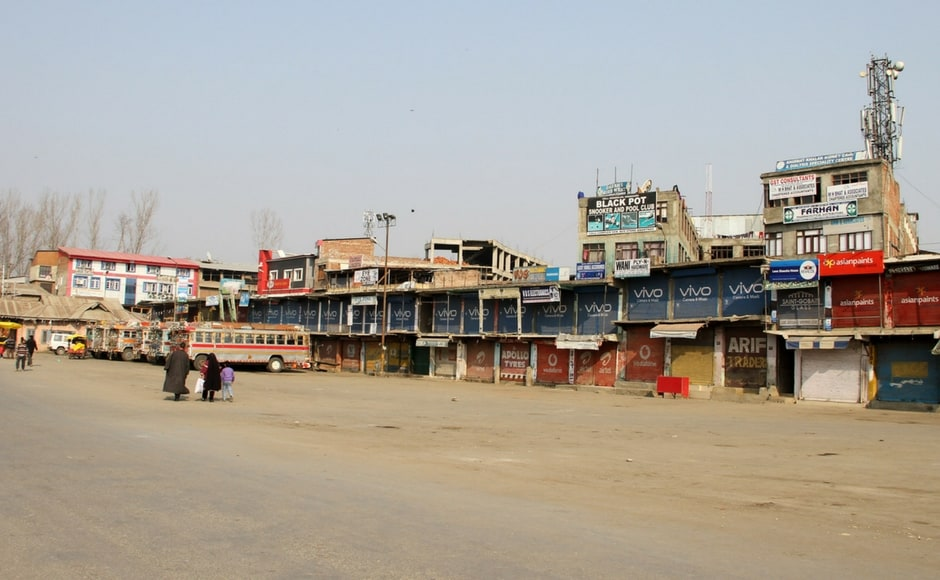 These restrictions were notapplicable to government employees, universities, essential services like banks or those taking or invigilating examinations. Bus stand Anantnag of south Kashmir wore a desolate look throughout the day. Image Courtesy: Sameer Mushtaq