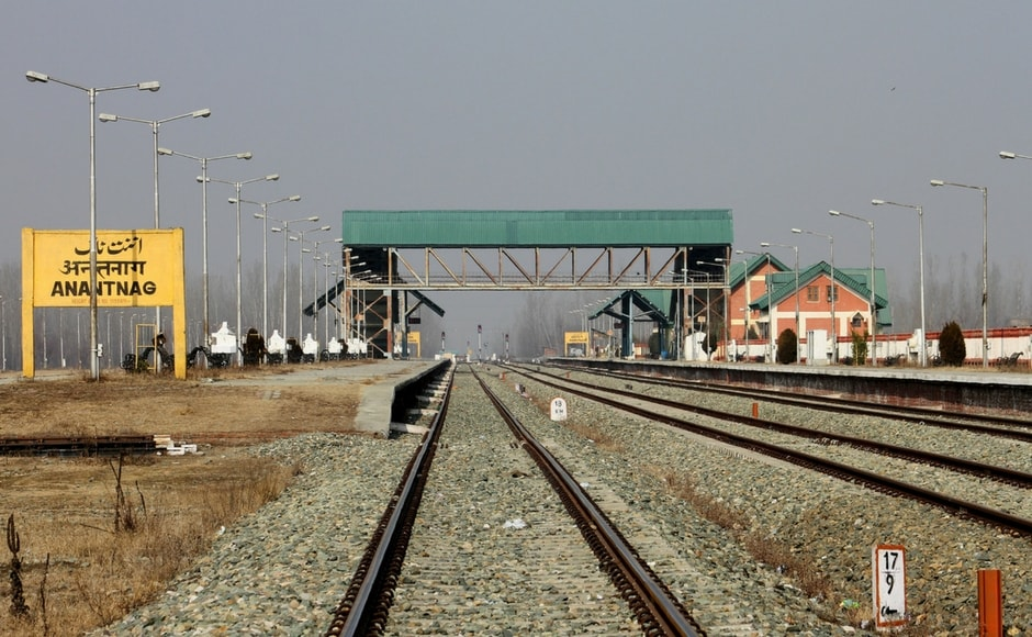 Train services weresuspended in Kashmir to prevent any untoward on the strike day. Image Courtesy: Sameer Mushtaq
