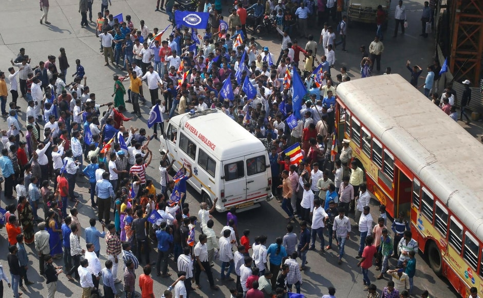 Normal life in Mumbai was disrupted as protesters attacked city buses, stopped suburban local services and blocked roads at various places in the city. In view of protests in the city and suburbs, police diverted traffic for smooth vehicular movement. PTI