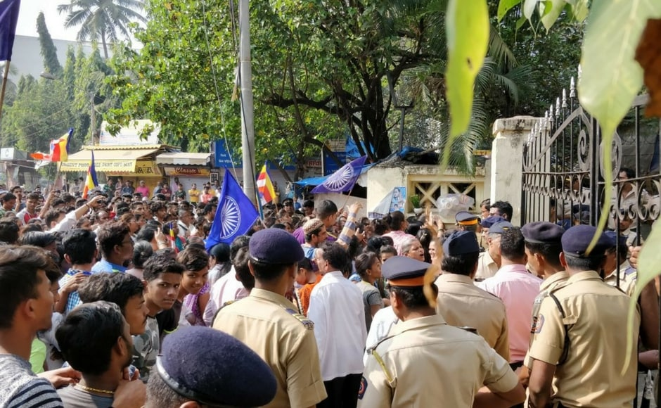 During the day, Ambedkar Samaj supporters tried to barge into Mumbai collector's office after failing to submit a memorandum on the matter. 101Reporters