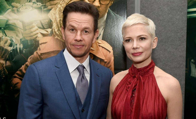 Mark Wahlberg with Michelle Williams at the premiere of All the Money in the World/Image from Twitter.