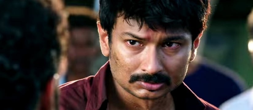 Udhyanidhi Stalin in a still from Nimir. YouTube