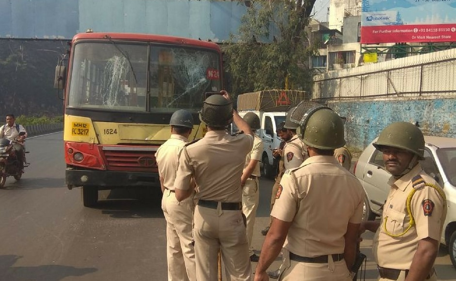 In Pune, barring a couple of incidents of stone pelting on public transport buses, the bandh was peaceful. 101Reporters/Gunwanti Paraste