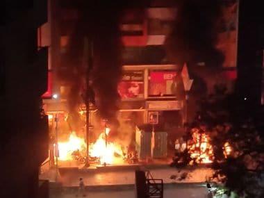 Anti-Padmaavat protesters unleash violence in Ahmedabad: Malls vandalised, vehicles burnt ahead of Karni Sena chief's visit
