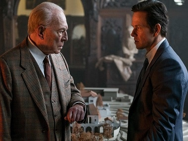 Taking Up Spacey: J. Paul Getty (Christopher Plummer) and Fletcher (Mark Wahlberg) in All The Money In The World.</em
