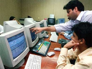 File image of stock brokers at BSE. Reuters.