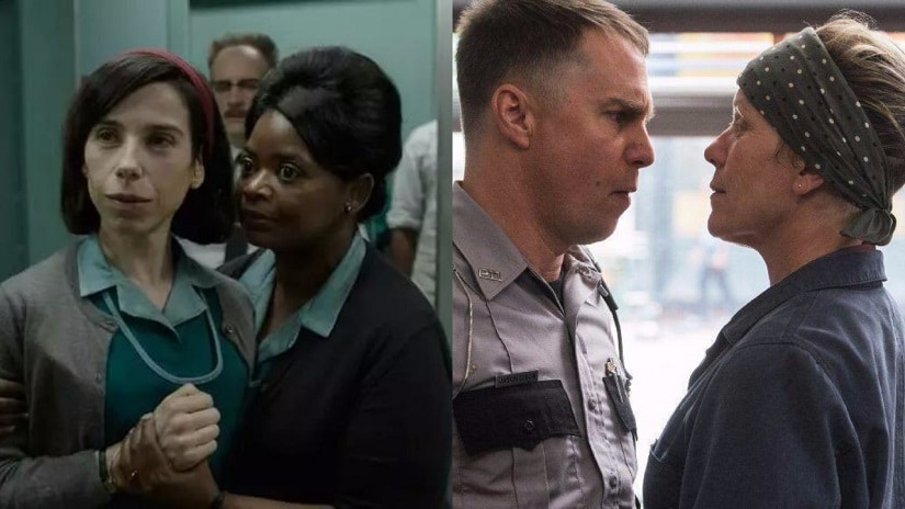 Resultado de imagem para the shape of water and three billboards