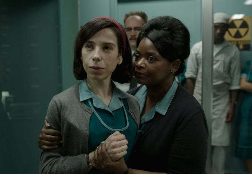 Sally Hawkins (L) and Octavia Spencer in The Shape of Water. Fox Searchlight Pictures