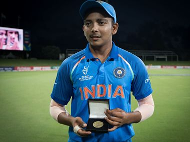 Prithvi Shaw was adjudged the Man of the Match for his 94 in India's tournament opener against Australia. Twitter @CricketWorldCup