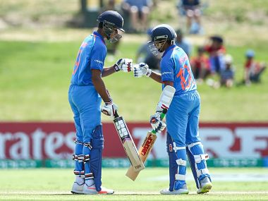 India would be hoping for another rousing start from skipper Prithvi Shaw (R) and Manjot Kalra. Image courtesy: Twitter @Cricketworldcup