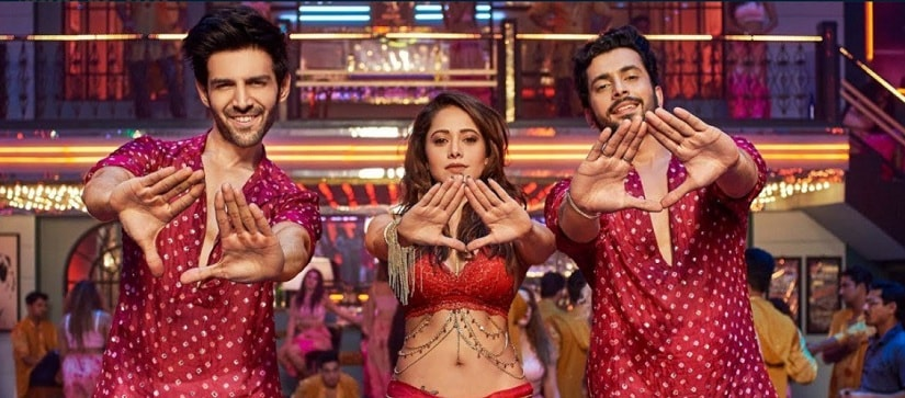 Kartik Aaryan, Nushrat Bharucha and Sunny Singh in a still from Sonu Ke Titu Ki Sweety. YouTube