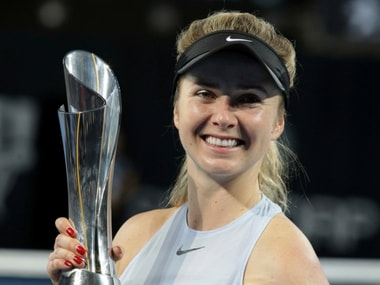 Elina Svitolina with the Brisbane International title. AP