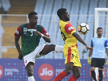 Solid Performance from Henry Kisekka (1 goal and 1 assist) helped the team get past Mohun Bagan. Image courtesy: Agencies