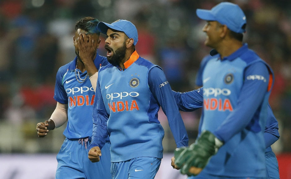 India ended up making 289/7 in 50 overs and after the break, rain came in to interfere with the match proceedings. The match was then reduced to 28 overs with South Africa requiring 202 runs to keep the series alive. AFP
