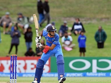 Shubman Gill in action during the final. ICC Media