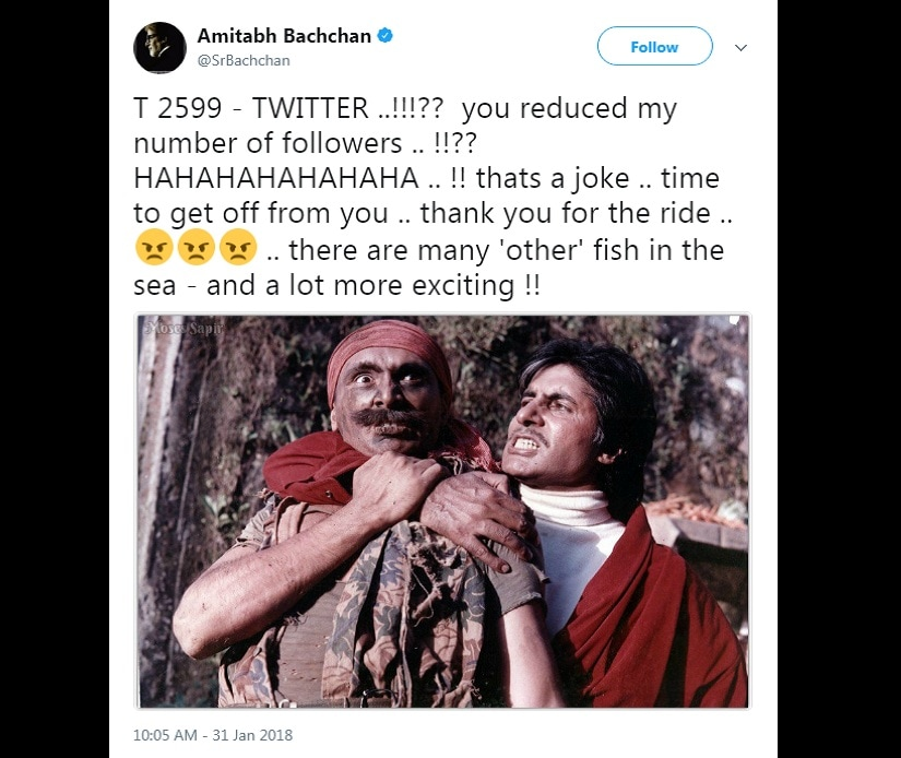 The tweet by Amitabh Bachchan that stoked furious conjecture over his possibly quitting Twitter