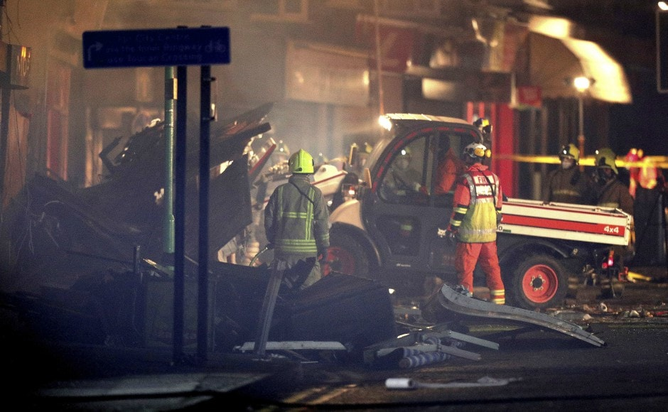 Leicester explosion Blast destroys shop in central English city four of the six injured in critical condition