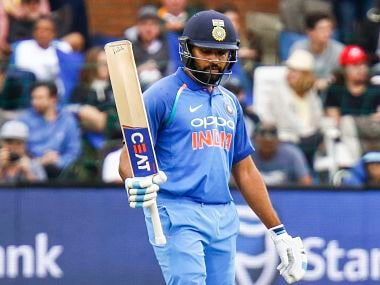 Port Elizabeth: India's Rohit Sharma reaches a century during the fifth ODI cricket match between South Africa and India in Port Elizabeth, South Africa Tuesday, Feb. 13, 2018. AP/PTI(AP2_13_2018_000206B)