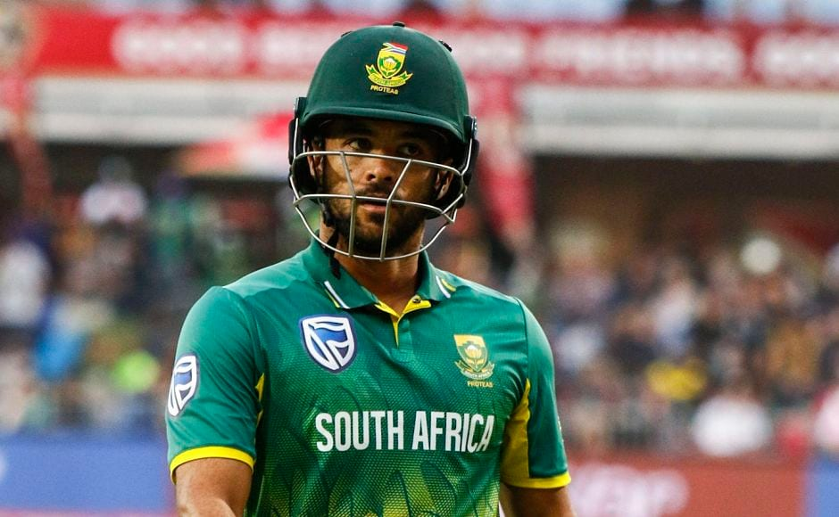 Hardik Pandya provided India with vital breakthroughs with prized the wickets of JP Duminy and AB De Villiers reducing South Africa to 65 for 3. PTI