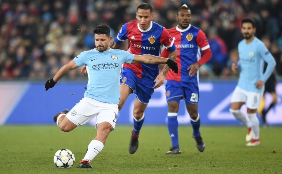 Sergio Aguero scored City's third through a long-range effort in the 23rd minute, effectively winning the match for Pep Guardiola's side. Image courtesy: Twitter @ChampionsLeague