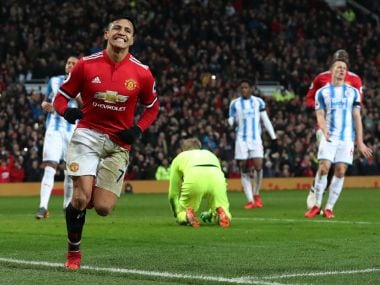 Alexis Sanchez scored his first goal for Manchester United in their 2-0 win over Huddersfield Town. Reuters