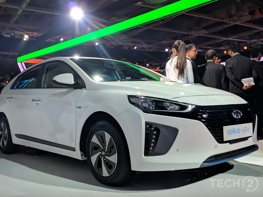 The interior of the Ioniq is similar to other Hyundai cars such as the Elantra. Image: tech2/Ankit Vengurlekar