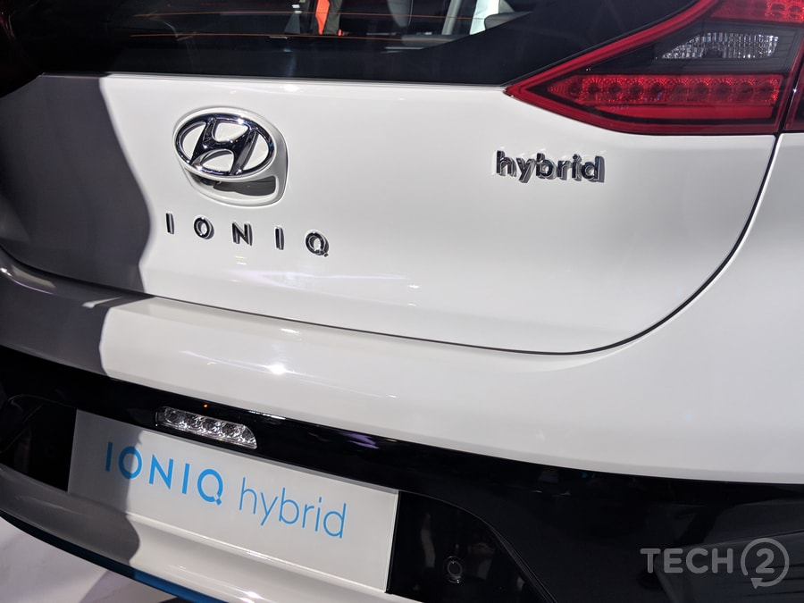 The full EV version of the Ioniq comes with a range of about 200 kmph because of its 28.9 kWh battery pack. Image: tech2/Ankit Vengurlekar