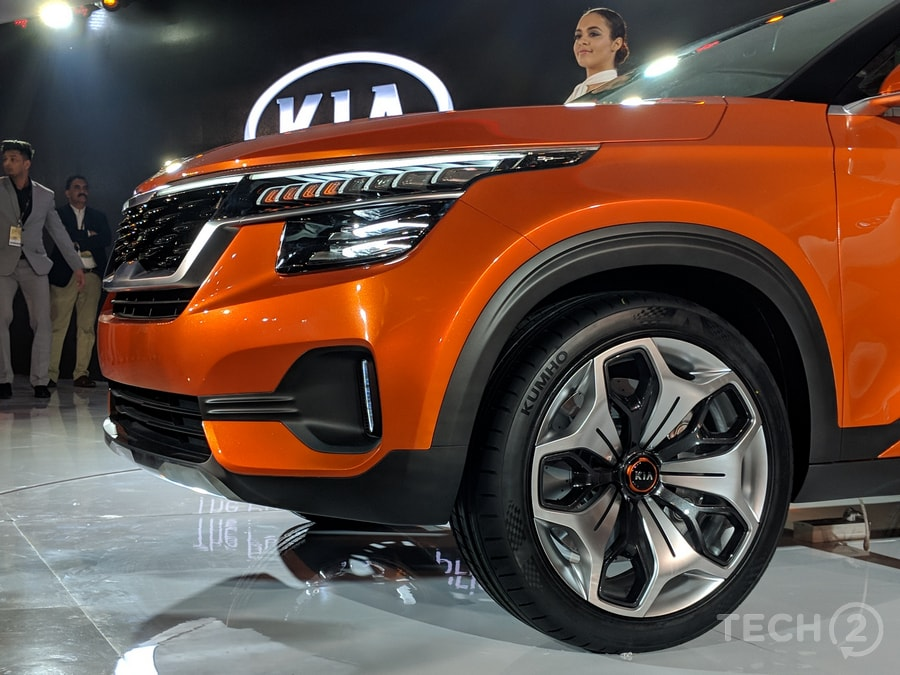 Auto Expo 2018: Here is the Kia SP Concept SUV in all its glory