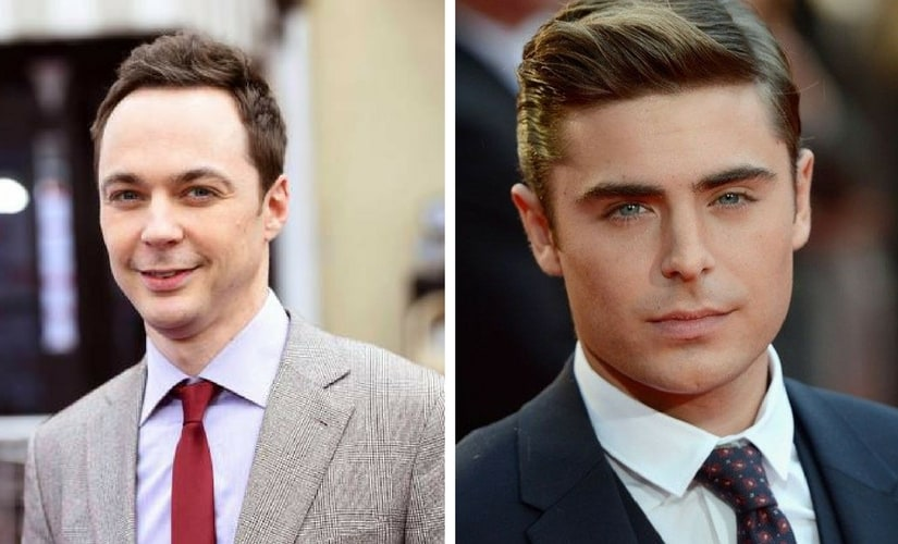 Jim Parsons and Zac Efron/Image from Twitter.