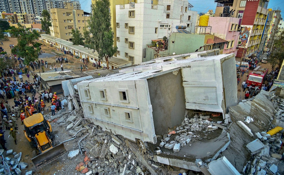 Three killed, seven injured after building collapses in Bengaluru's Kasavanahalli area